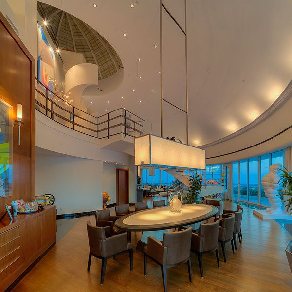 Real Estate Envy! Take a Tour of Pharrell's Epic Miami Penthouse | 7. THE DIM LIGHTING IS APPROPRIATE FOR ANY EVENT | BRB, calling our squad over for a wine night right now. (Pro tip: It's super flattering for the obligatory selfie.)