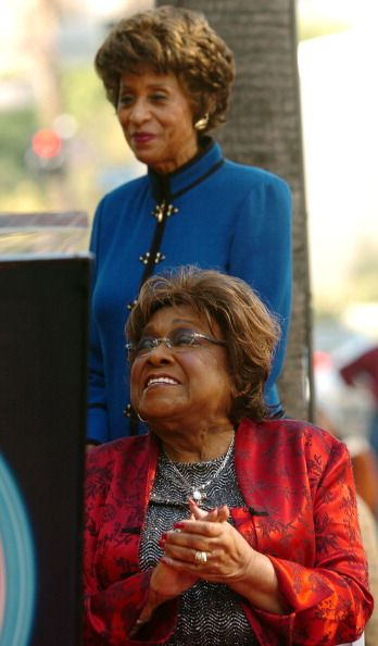 Isabel Sanford and Marla Gibbs during Isabel Sanford Honored With a Star on the Hollywood Walk of Fame for Her Achievements in Television at...