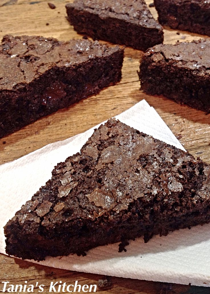 A decadent chocolate brownie, dense and fudgy with molten bits of chocolate that melt in your mouth. Great for afternoon tea or served as a dessert.