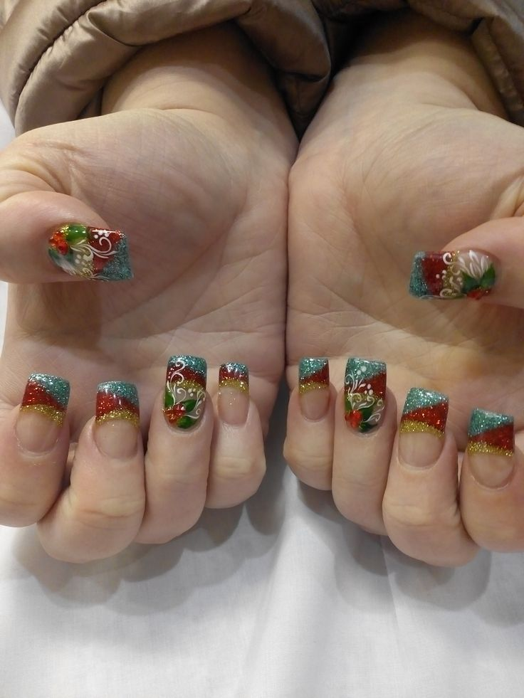 CHRISTMAS NAIL DESIGN BY MEGAN - ORCHID NAILS and SPA in VALLEJO
