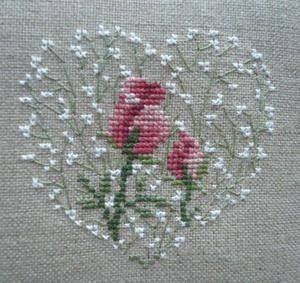 Heart & two roses // Corazón y dos rosas