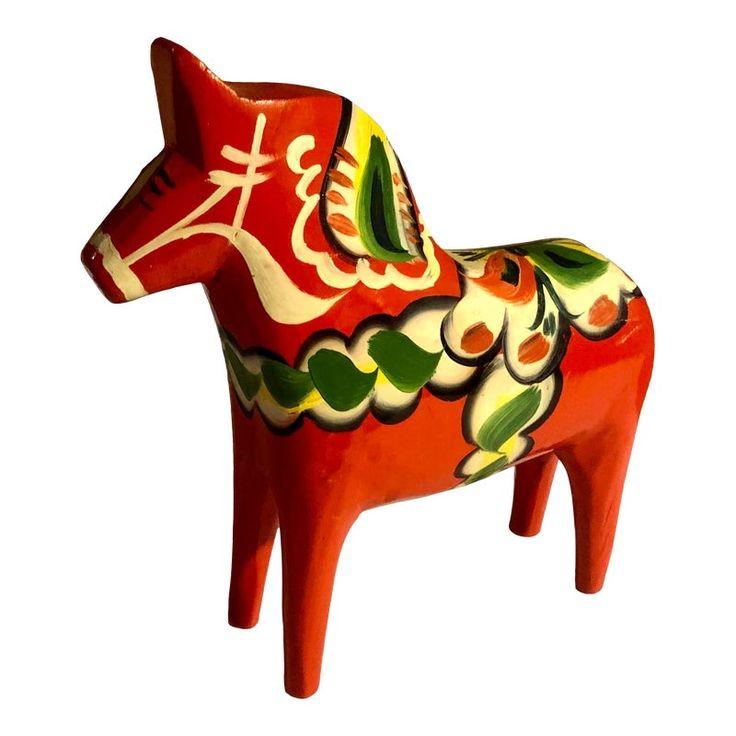 Vintage Swedish Dala Horse Folk Art Figure In 2021 Dala Horse Horses Folk Art