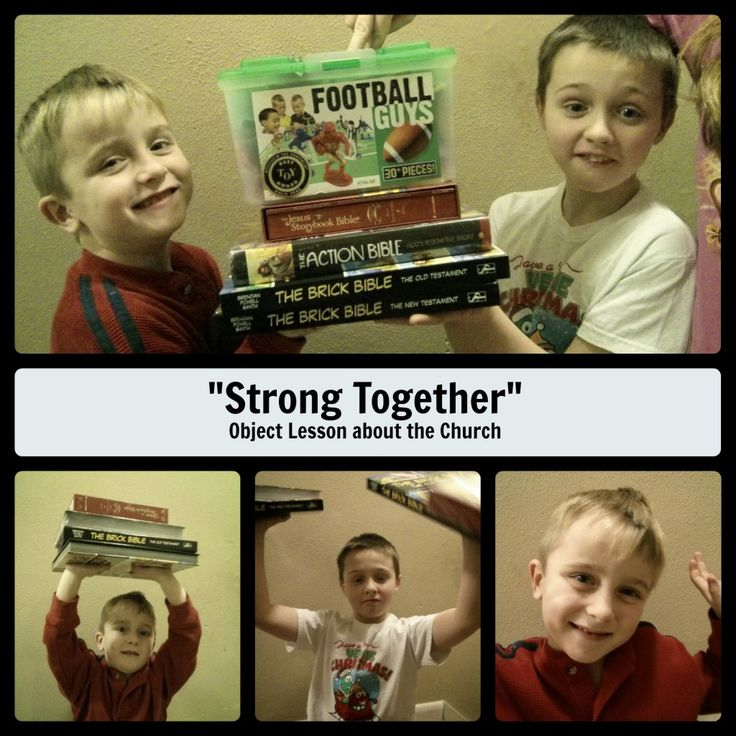 Try this simple object lesson to teach children the importance of the church community in their lives. Main Idea: We are stronger together, the church is a group of friends who help each other foll…