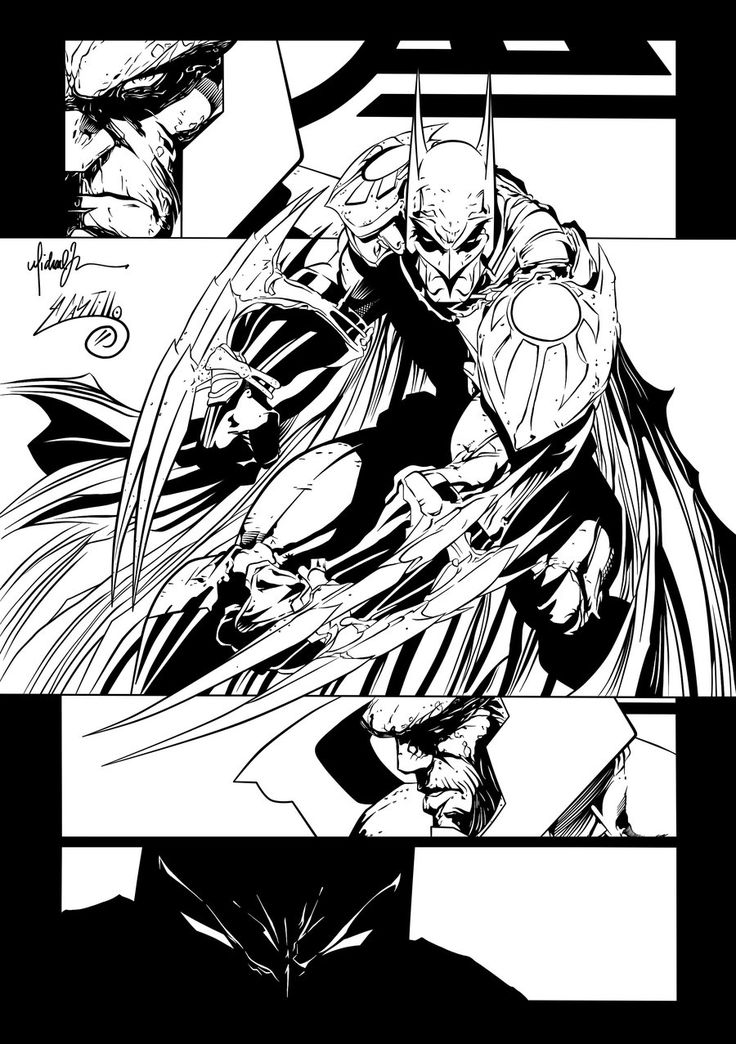 Batman vs Darkseid Page Ink#1 by ~SWAVE18 on deviantART