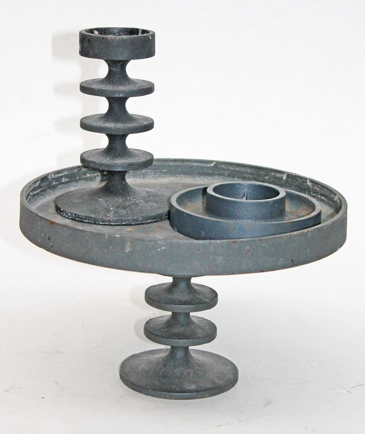 Lot 598 - Three pieces of Robert Welch cast iron. Condition - 2 with pieces labelled, general wear to