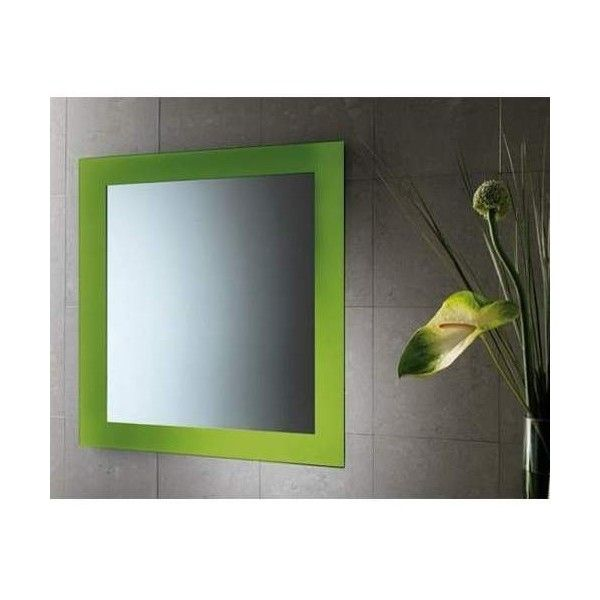 """Gedy by Nameeks 7800 Maine 24"""" Wall Mounted Mirror Green Home Decor ($102) ❤ liked on Polyvore featuring home, home decor, mirrors, green, framed wall mirrors, green home decor, framed mirrors, rectangle mirror and green framed mirror"""