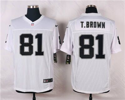 ff0dad1c46d ... where to buy nfl home nike oakland raiders 81 tim brown white elite  jersey . 398d0