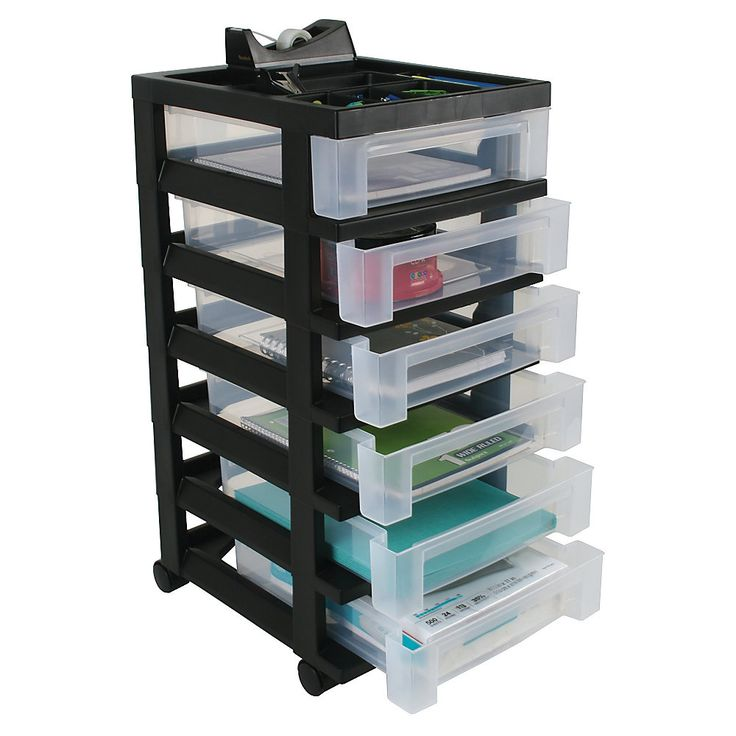 Brand Plastic Storage Cart 6 Drawers 26 7 16 Quot H X 12 1 16