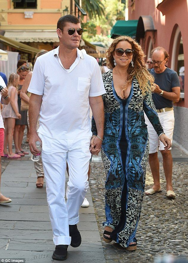 Hotting up:They only made their relationship public days ago when they were spotted holding hands on the island of Capri