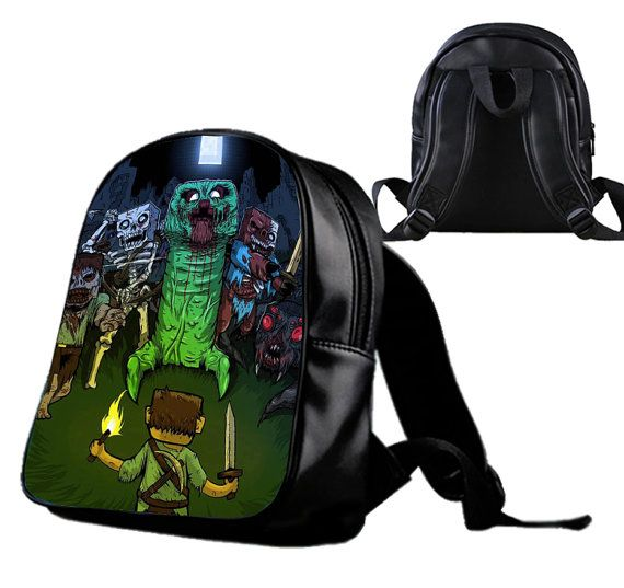 Minecraft zombie  Backpack/Schoolbags for kids. by Wonderfunny #Minecraft #backpack #schoolbags #gift #birthday