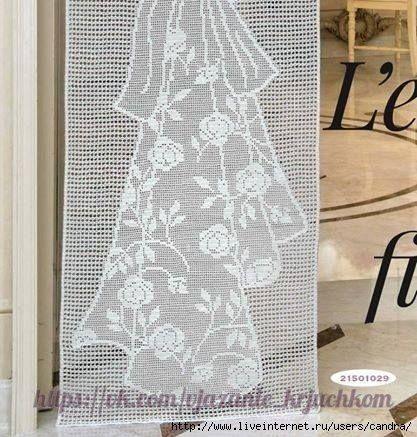 Mis Pasatiempos Amo el Crochet: Hermoso cortinado
