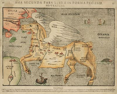 late 16th century fantasy map by heinrich bunting16Th Century, Fantasy Maps, Colors Woodcut, Book, German Editing, Formas Pegasir, By, Early Warning, Asia Secunda