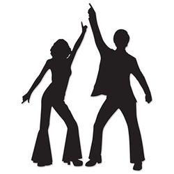 Play that funky music at your 70's Disco Party.  These Disco Silhouettes will help inspire anyone who is having a hard time remember some of the signature moves of the 70's.
