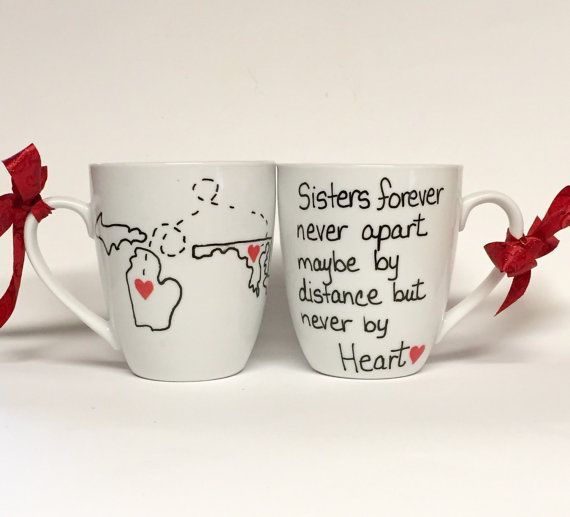 Long distance mug Long distance gifts Family by Brusheswithaview