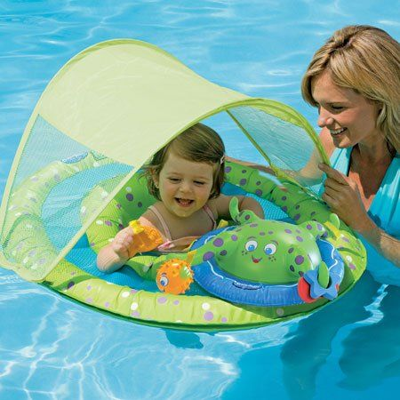Baby Spring Float Activity Center With Canopy Swim Ways