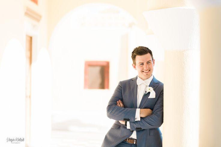 Groom, Smiles, In Love, Joy, Happiness, Moments, Memories, Santorini Weddings