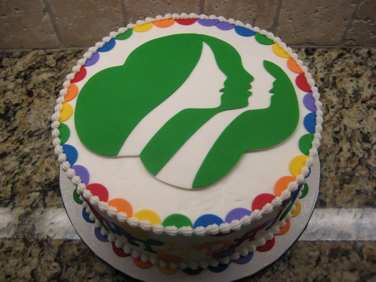 Amazing Cake Girl Scout Symbol Daisy Girl Scouts