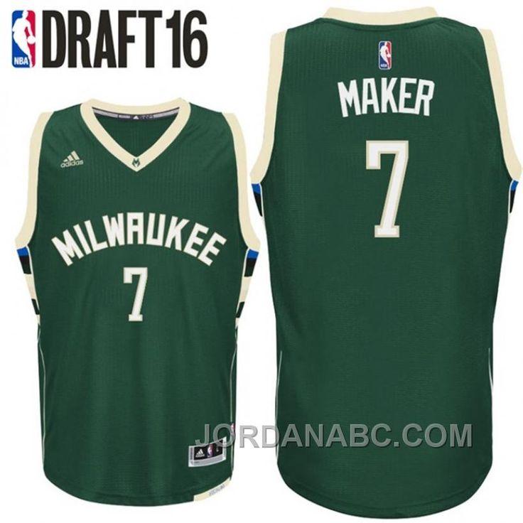 Thon Maker Milwaukee Bucks #7 2016 NBA Draft Road Green Jersey. Jordan  ShoesAir ...