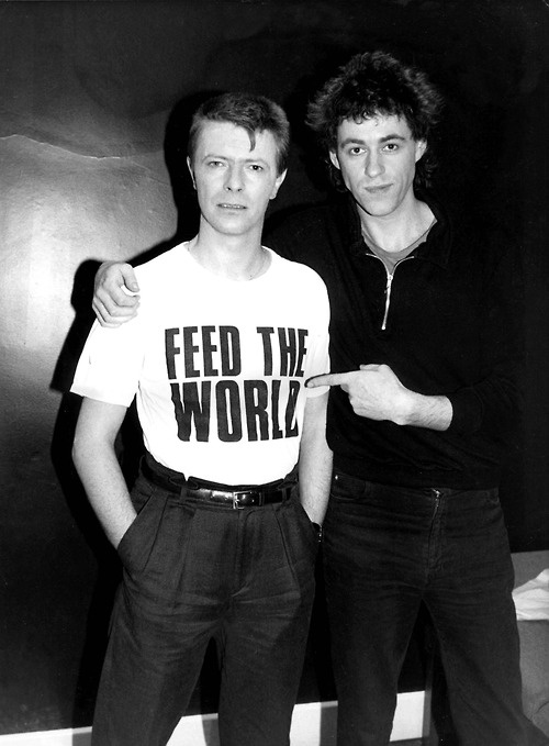 David Bowie with Bob Geldof