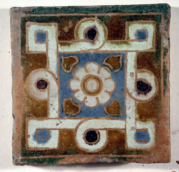 Pavement tile, Spain (Andalusian), 16th c.