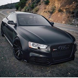 Matte Black Audi RS5 - via @LuxuryLifestyleMagazine