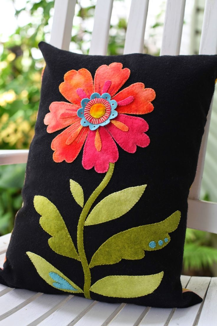 Cosmos Pillow by Black Sheep Woolens