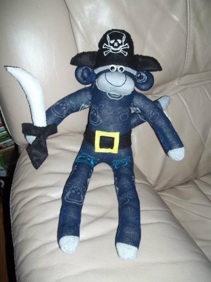 pirate sock monkey