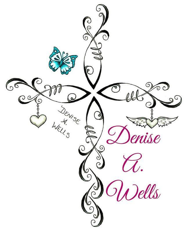 Christian Fish Cross Tattoo Design by Denise A. Wells