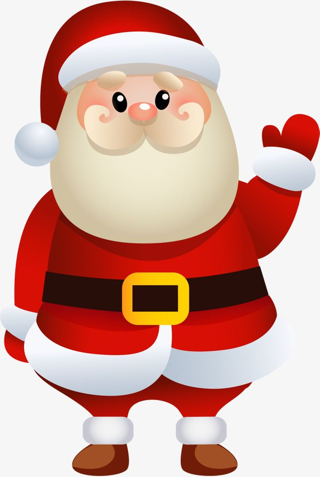Cartoon Santa Claus Happy Christmas Day Santa Claus Clipart Christmas Cartoons