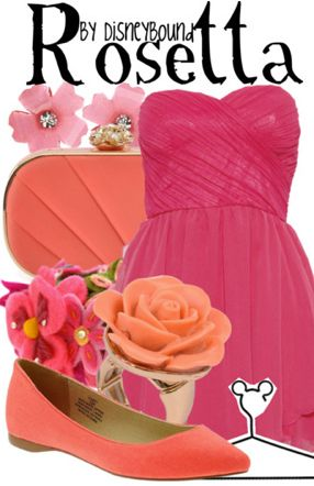 """""""Rosetta"""" ~ Based on Disney's lovable fairy with southern class and charm, comes this cheery spring outfit that even the delightful fairy herself would approve of. Designed by Leslie Kay or also known as the designer of Disneybound outfits. Can be found on Polyvore or her personal shop or tumblr account."""