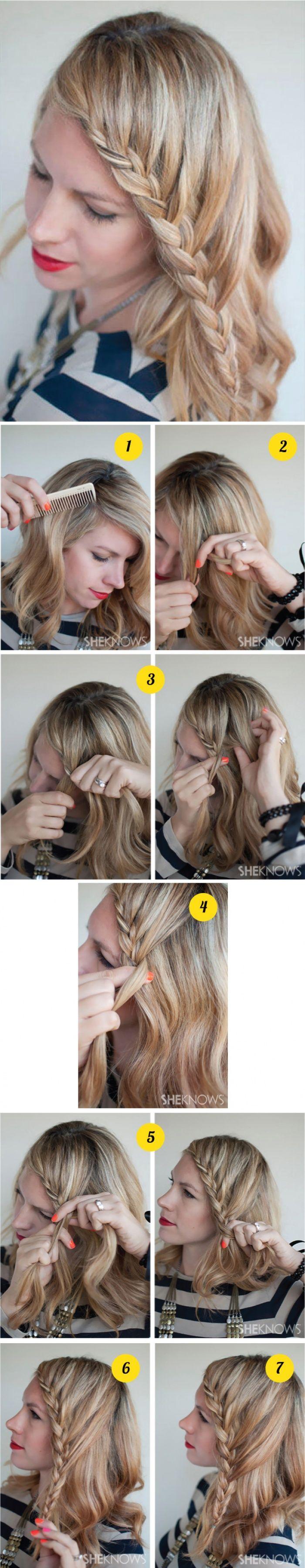 Кружевная тесьма косой (французская коса) → Фото-урок + описание