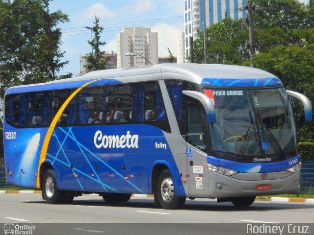 Ônibus da empresa Viação Cometa, carro 12307, carroceria Marcopolo Paradiso G7 1050, chassi Mercedes-Benz O-500RS. Foto na cidade de São Bernardo do Campo-SP por Rodney Cruz., publicada em 14/02/2013 15:28:17.