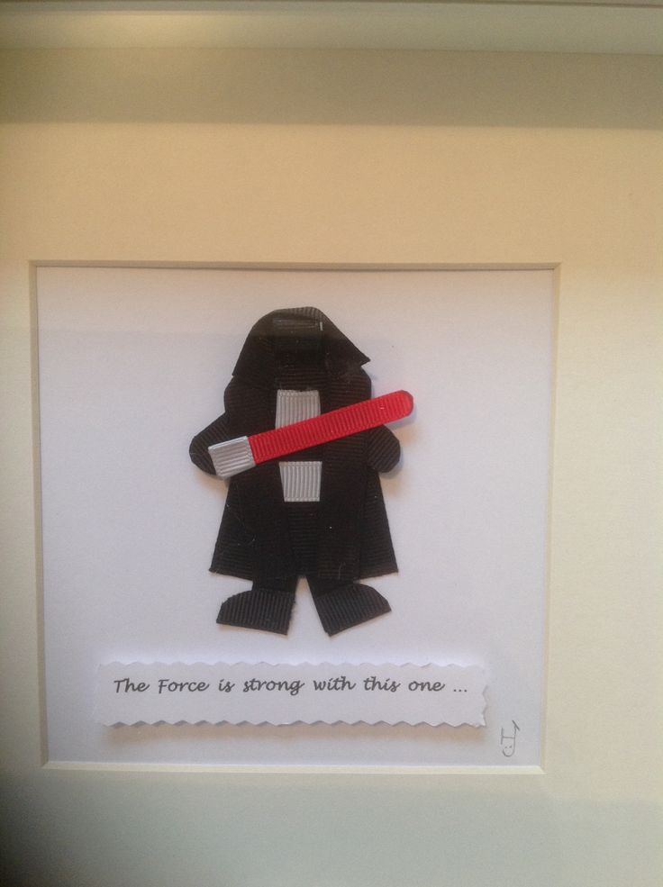 Star Wars Ribbon Sculpture Art. For someone with a dark side!