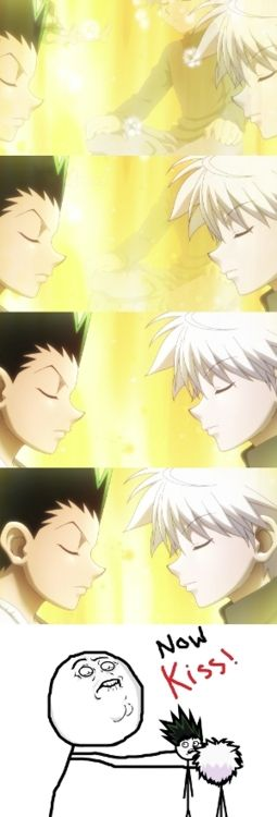 kiss kiss kisssssss  Hunter x hunter, Hunter anime, Killua