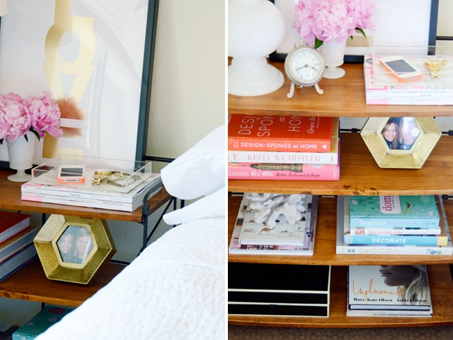 Update your bedside table  #springintothedream: Homes Colleges Living, Bedside Shelves, Bedstand Shelf, Decoration Design, Bedside Tables, College Dorm Rooms, Acrylics Trays, Bedside Shelf, Apartment Rooms