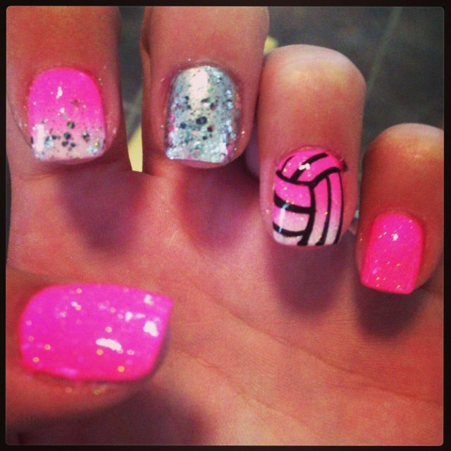 V-ball nails! My fave sport! Well one of them! Don't they look fake? They might be! :)
