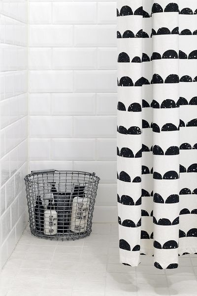 ferm LIVING Half Moon Shower Curtain - http://www.fermliving.com/webshop/shop/half-moon-shower-curtain.aspx