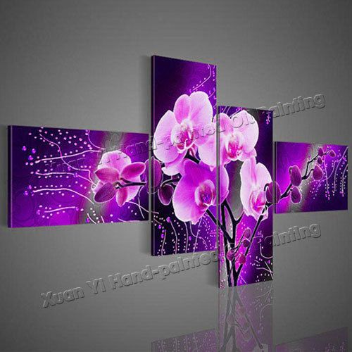Purple Flower Oil Painting Abstract Wall Art Picture: 101 Best Images About Wall Art On Pinterest