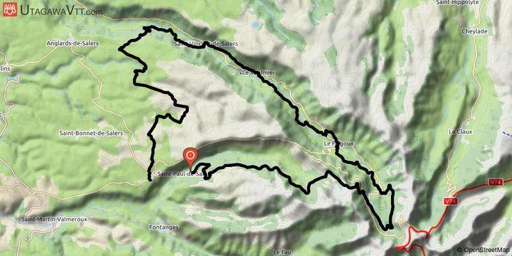 """[Cantal] Raid Pastourelle 2017 - 57 km Raid VTT """"La Pastourelle 2017"""".  L'itinéraire ne boucle pas car la course partait de Salers avant le """"vrai"""" départ à 3 km de là. Magnifique rando mais qui demande une bonne condition physique. Les paysages sont splendides!"""