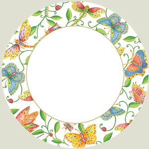 Parvaneh's Garden Paper Dinner Plates - 8 per package