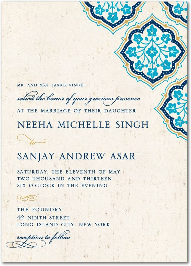 31 best Moroccan Wedding Invites images on Pinterest   Moroccan ...