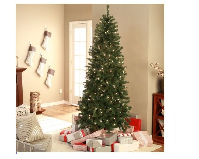 Christmas Tree Classic Pre Lit Green WHITE Lights 7.5 Feet Artificial Holiday #ChristmasTrees
