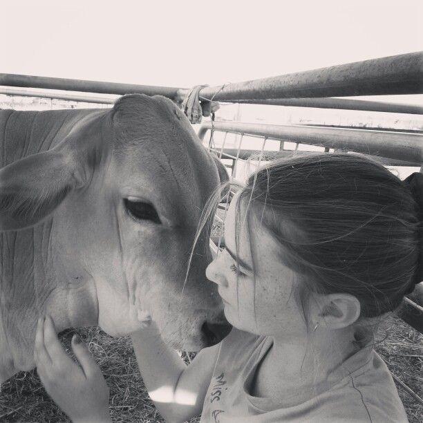 Shannai and 'Jumper' such a beautiful kind boy!  www.wealth-love-peace-believe.com #calf #love #stationlife #suplejack