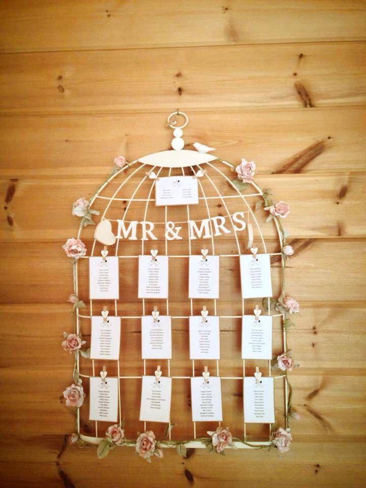 Bird cage wedding table plan