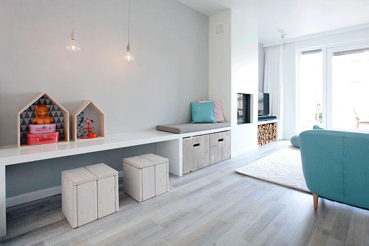 Een romantische woonkamer | Interieur design by nicole