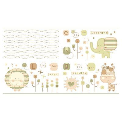 Natures Purest Sleepy Safari Wall Appliques - WDNPSS-01