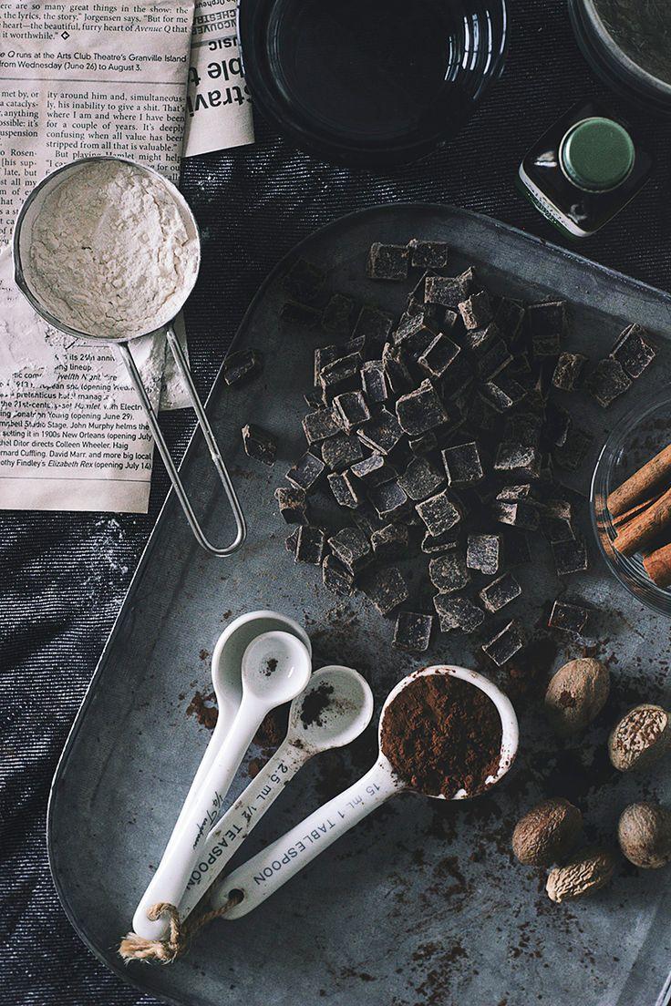 Mayan Dark Chocolate Pudding with Salted Caramel Pistachios via The Artful Desperado