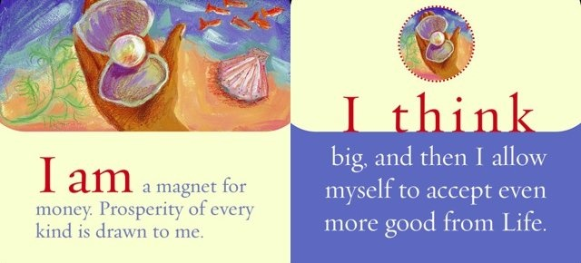 I am a magnet for money. Prosperity of every kind is drawn to me. I think big and then I allow myself to accept even more good from life.   ~ Louise L. Hay: Magnets, Louise Hay Money, Louis Hay
