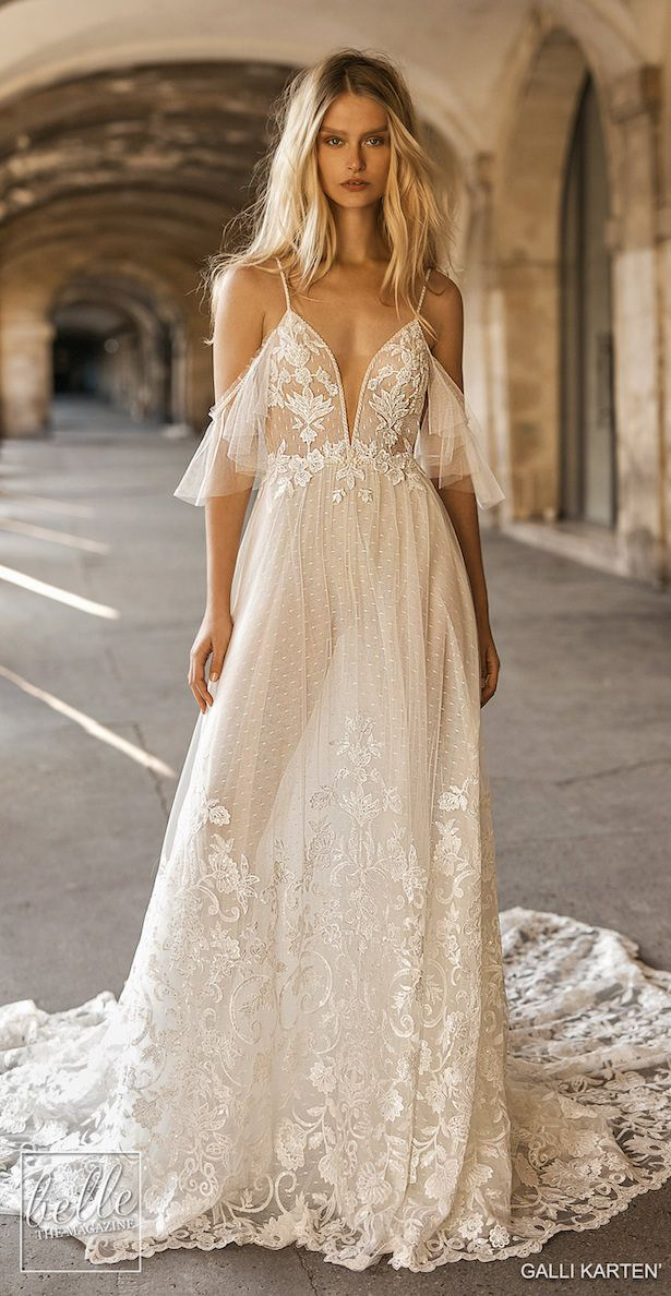 aa07cf65f847 Gali Karten 2019 Wedding Dresses - Paris Bridal Collection | Off the  shoulder lace boho ball