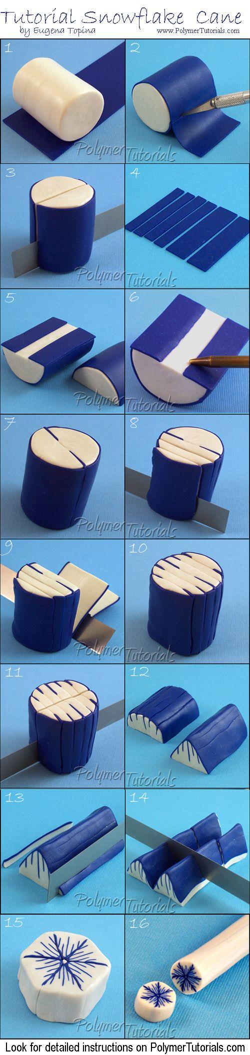 Des flocons en pâte fimo | #polymer #diy